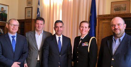 Σύσκεψη Δημάρχου με Ναυτική Ακόλουθο Πρεσβείας των ΗΠΑ