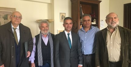 Συνάντηση εργασίας του Δημάρχου Σύρου-Ερμούπολης με τον υπ. Εσωτερικών Πάνο Σκουρλέτη