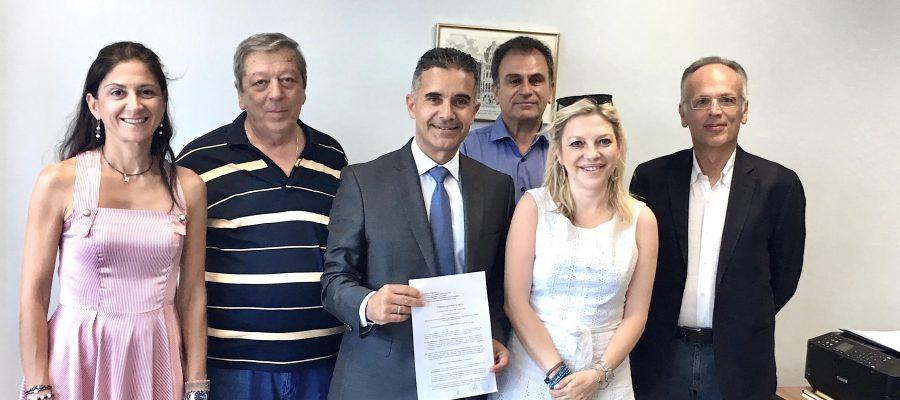 Υπογραφή σύμβασης του έργου επέκτασης και αναβάθμισης του Αεροδρομίου Σύρου