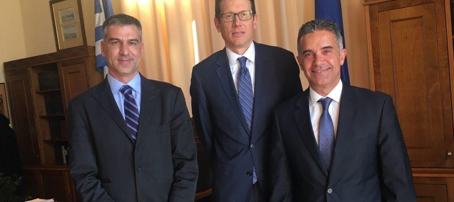 Συνάντηση Δημάρχου με Οικονομικό Ακόλουθο Αμερικανικής Πρεσβείας