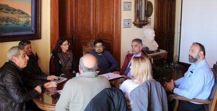 Συνάντηση Δημάρχου με την Ένωση Σωματείων Καλαθοσφαίρισης Κυκλάδων